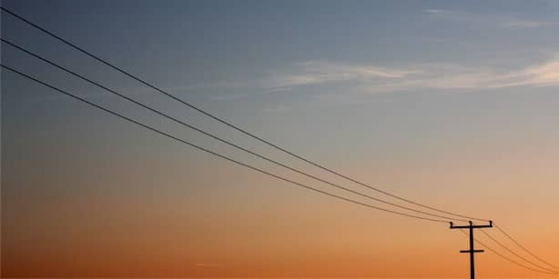 sunset power line